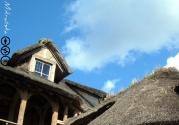 A varios kilometros del castillo de Versailles, más allá del Petit Trianon donde vivía María Antonieta, esta hizo construir una aldea (le Hameau de la Reine) de inspiración normanda, con casitas de techos de paja y demás. En aquellos días, se exaltaba el concepto de retorno a la vida sencilla, frente a la absurda complejidad casi ritual de la vida de corte...