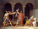 """""""El Juramento de los Horacios"""" de Jacques-Louis David."""