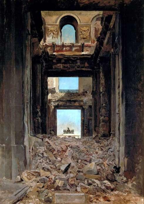"""""""Ruinas de las Tullerías"""" de Jean-Louis-Ernest Meissonier"""